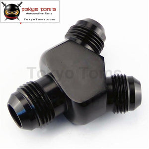 An10 Inlet An8 An-8 Outlet Y Block Car Performance Aluminum Fittings Adapter Black
