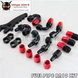 An10 Steel Nylon Braided Oil Line Hose+Fitting Adaptor+Wrench Tools Spanner Kit