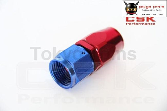 An10 Straight Aluminum Oil Cooler Hose Fitting Reusable End Blue And Red An-10 10 An Fuel Push-On
