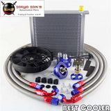 An10 Universal 34 Row Filter Relocation Adapter Hose Kit +7 Electric Fan Sl Radiator