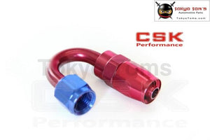 An6 An-6 6 An 180 Degree Swivel Fitting Hose End Adaptor Aluminium Oil Hose Fitting Adaptor Reusable