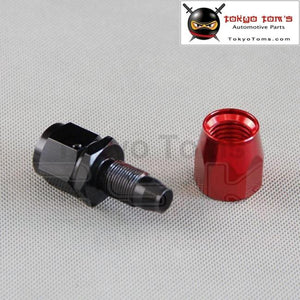 An6 Straight Aluminum Oil Cooler Hose Fitting Reusable End Black And Red An-6 6 An Fuel Push-On