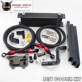 An8 13 Row Oil Cooler Full Kit Fits For Vw Golf Mk7 Gti Engine Ea-888Iii Black/silver Black