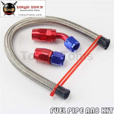 An8 8-An Stainless Steel Braided Oil/fuel Line Hose+Straight+45 Degre Swivel Fitting