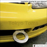 Anodized Universal Front Tow Hook Billet Aluminum Towing Kit For Jdm Racing Exterior Parts