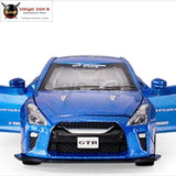 Beargor 1:32 Alloy Mini Auto Gtr Race Car Toy Diecast Pull Back Model With Music Light Desk