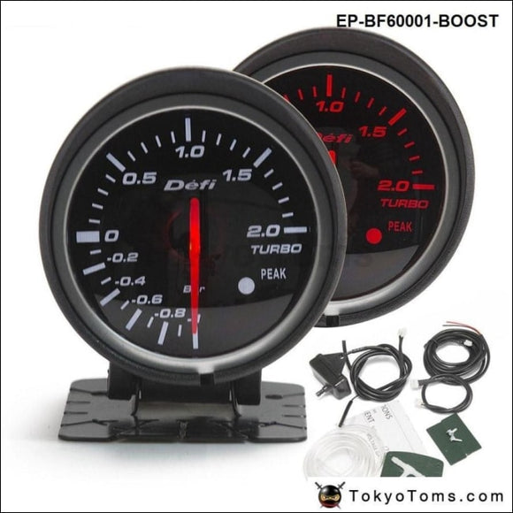 Bf 60Mm Boost Gauge High Quality Turbo With Red & White Light For Audi Tt S3 A3 03-06 Seat Leon