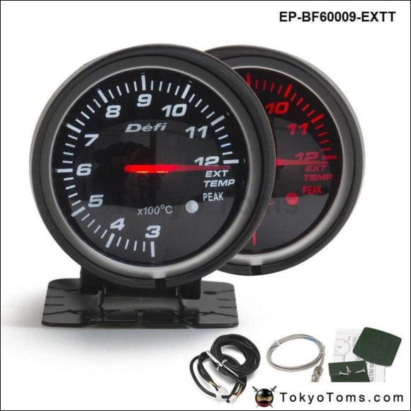 Bf 60Mm Led Exhaust Gas Temp Ext Gauge Auto Car Motor With Red & White Light For Vw Golf 5 Gauges