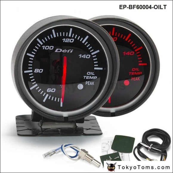 Bf 60Mm Led Oil Temp Gauge High Quality Auto Car Motor With Red & White Light For Bmw E60 Gauges
