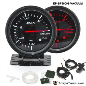 Bf 60Mm Led Vacuum Gauge High Quality Auto Car Motor With Red & White Light For Bmw E90 Gauges