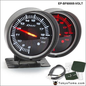 Bf 60Mm Led Volt Gauge High Quality Auto Car Motor With Red & White Light For Bmw E34 2000-2003
