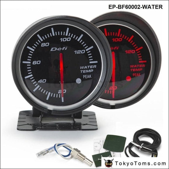 Bf Mm Led Water Temp Temprature Gauge Auto Car Motor With Red White Light For Seat Gauges Tokyo Toms X