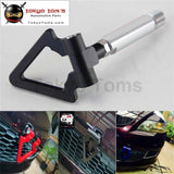 Black 24Mm T2 Aluminum Racing Screw Cnc Tow Towing Hook Fit Toyota Yaris 07-11