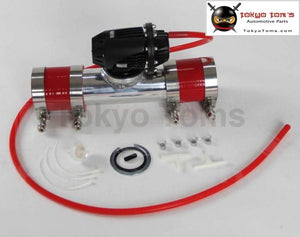 Black Aluminum Billet Anodized Type-4 Sqv Blow Off Valve Bov +3 Flange Pipe +Silicone +Clamps +4Mm