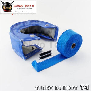 Blue Turbo Heat Shield Blanket Cover T 4 T4 +30Ft Manifold