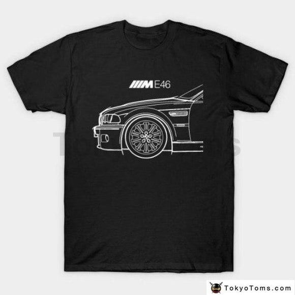Bmw E46 M3 M Power T-Shirt Print Tee Shirt For Male T Mens Fashion Men Clothing