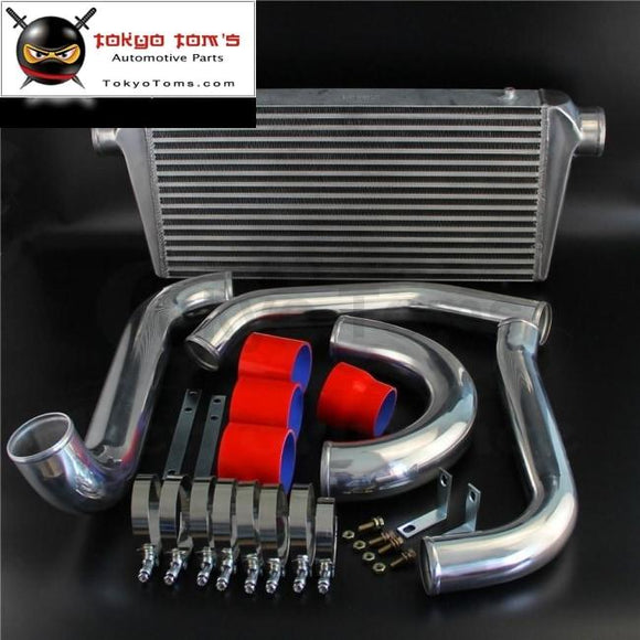 Bolt On Fmic Intercooler Kit Fits For 93-98 Toyota Supra Jza80 Turbo 2Jzgte 2Jz Blue / Black Red Csk