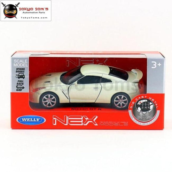 Brand New Welly 1/36 Scale Car Model Toys Nissan Gtr Diecast Metal Toy For