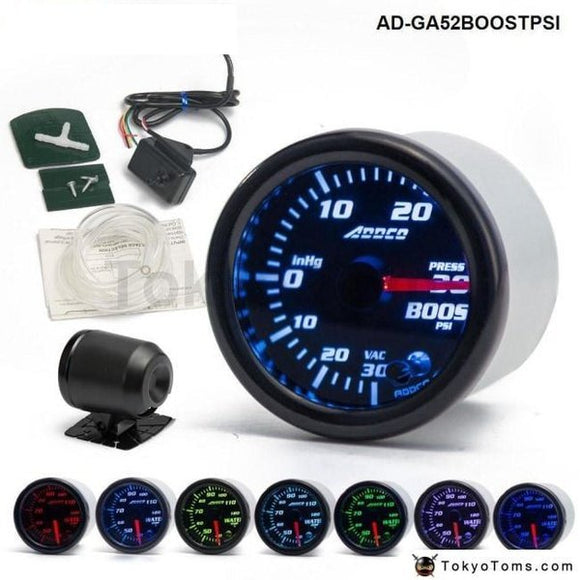 Car Auto 12V 52Mm/2 7 Colors Universal Psi Turbo Boost Gauge Led With Sensor And Holder