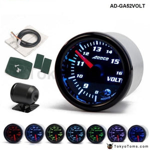 Car Auto 12V 52Mm/2 7 Colors Universal Voltmeter Volt Gauge Led With Sensor And Holder Ad-Ga52Volt