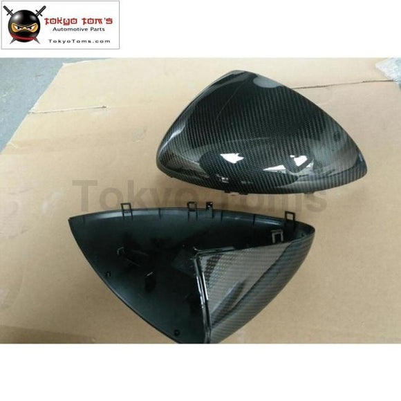 Car Body Kit Carbon Fiber Replacement Mirror Caps Rear View Cover For Porsche Cayenne 958 13-15