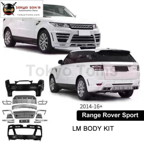 Car Body Kit Frp Unpainted Front Bumper Rear For Range Rover Sport Lumma Style 13-15