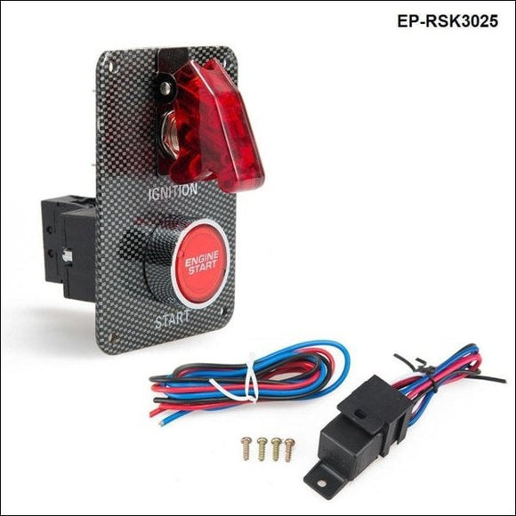 Car Electrical Racing Switch Kit /switch Panels-Flip-Up Start/ignition/accessory For Bmw E36