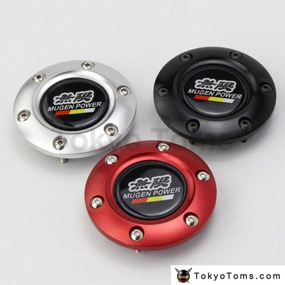 Car Styling Black Mugen Racing Steering Wheel Horn Button + Aluminum Black/red/blue Edge For Honda