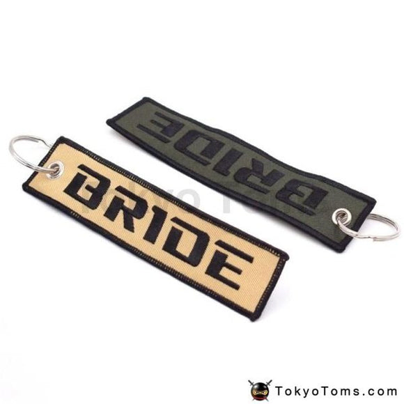Car Styling Bride Racing Key Ring Embroidery Keychain Luggage Tag