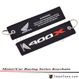 Car Styling Type R Racing Key Ring Embroidery Keychain Luggage Tag For Honda