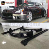 Carbon Fiber Front Bumper Lip Rear Diffuser Side Skirts For Maserati Quattroporte Wald Style Car