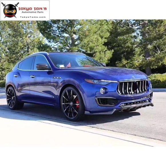 Carbon Fiber Front Bumper Lip Rear Diffuser Side Skirts Spoiler Mirror Cover For Maserati Levante