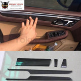 Carbon Fiber Interior Door Handle Cover For Porsche Macan 15-16