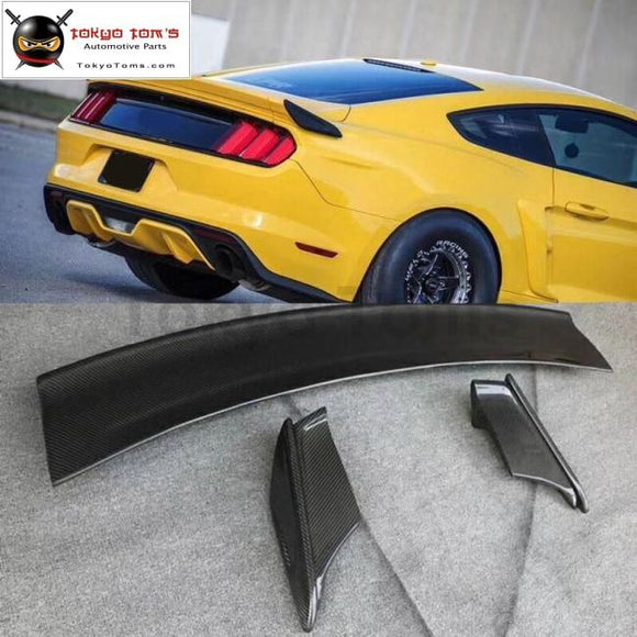 Carbon fiber Rear bumper spoiler for Ford Mustang Cervini's style Car body kit 15-17