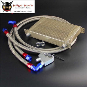 Champagne An10 Oil Cooler 13 Row Filter Adapter Hose Kit Fits For Ls1 Ls2 Ls3 Vt Vx