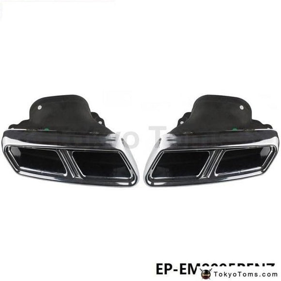 Chrome 304 Stainless Steel Exhaust Muffler Tip For Benz S-Class Amg W222