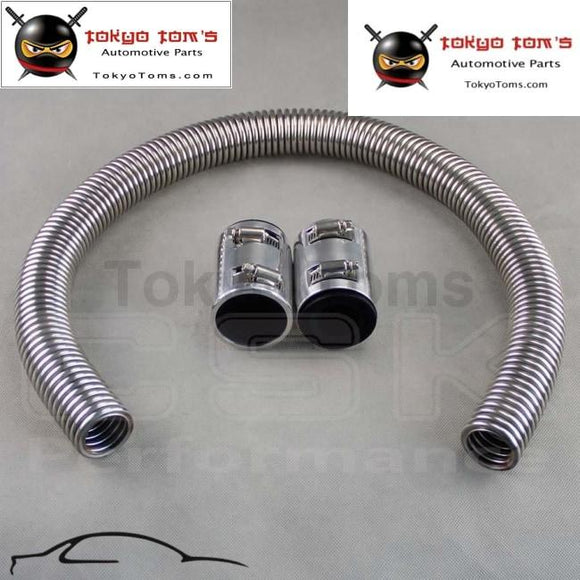 Chrome Stainless Steel Radiator Hose Kit 36 Universal Aluminum Clamp Covers New Csk Performance