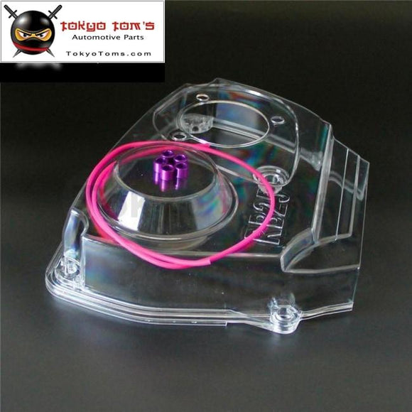 Clear Cam Pulley Gear Timing Belt Cover For Nissan Skyline R32 R33 Gts Rb25Det Csk Performance