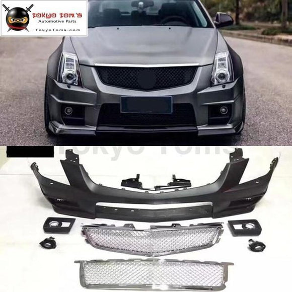 CTS CTS-V style PP Upainted Front bumper racing grills for Cadillac CTS CTS-V Car body kit 08-12