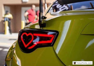 Custom GT86 FRS BRZ  Dancing Tail Lights - Hearts