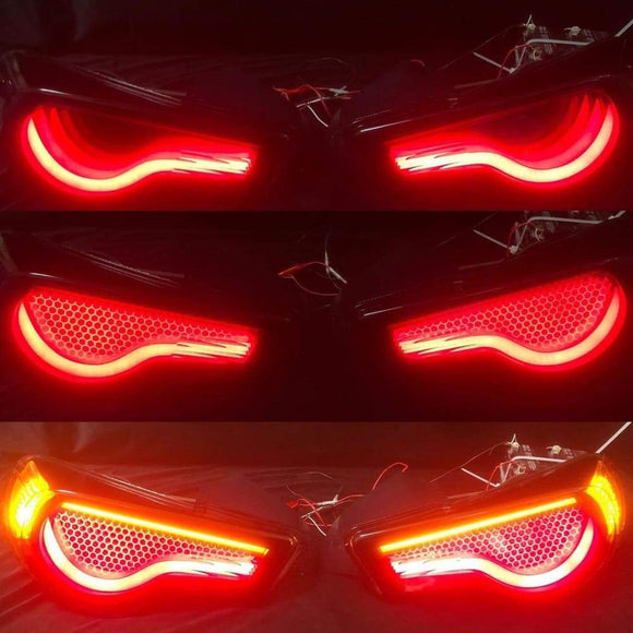 Custom GT86 FRS BRZ Dancing Tail Lights - Honey Comb