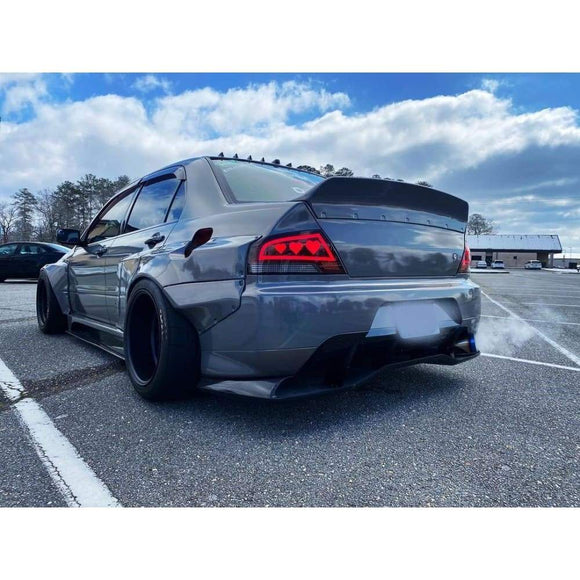 Custom Mitsubishi Lancer Evo 9 Dancing Tail Lights -Hearts