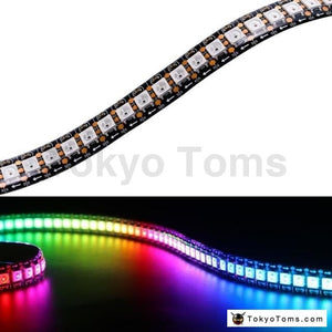 DC5V 1m/2m/3m/4m/5m WS2812B 30/60/144Leds/m Smart Led Strip Black/White PCB WS2812 IC Waterproof Individually Addressable Strips