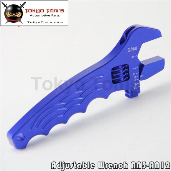Djustable Aluminum Wrench Fitting Tools Spanner An3 An4 An6 An8 AN10 12An Blue