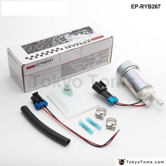 E85 Racing High Performance Internal Fuel Pump 450Lph F90000267 Install Kit Silicone Hose