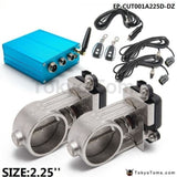 Exhaust Control Valve Dual Set W Remote Cutout For 2.5 63Mm Pipe 2 Sets