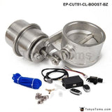 Exhaust Control Valve Set Cutout 251Mm Pipe Closed With Boost Actuator Wireless Remote Controller