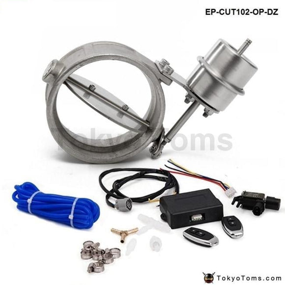 Exhaust Control Valve Set With Vacuum Actuator Cutout 102Mm Pipe Open Style Wireless Remote