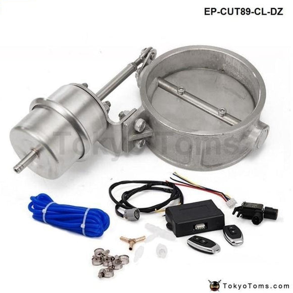 Exhaust Control Valve Set With Vacuum Actuator Cutout 89Mm Pipe Close Style Wireless Remote
