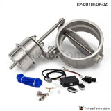 Exhaust Control Valve Set With Vacuum Actuator Cutout 89Mm Pipe Open Style Wireless Remote